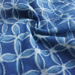 Organic Indigo Circles Hand Block Cotton Cambric