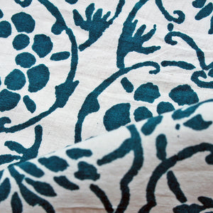 Organic Tree Of Life Hand Block Cotton Cambric