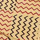 Fairtrade Yellow Hand Block Zig Zag Cambric
