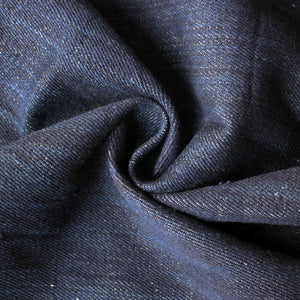 Indigo denim fabric with grainy white look