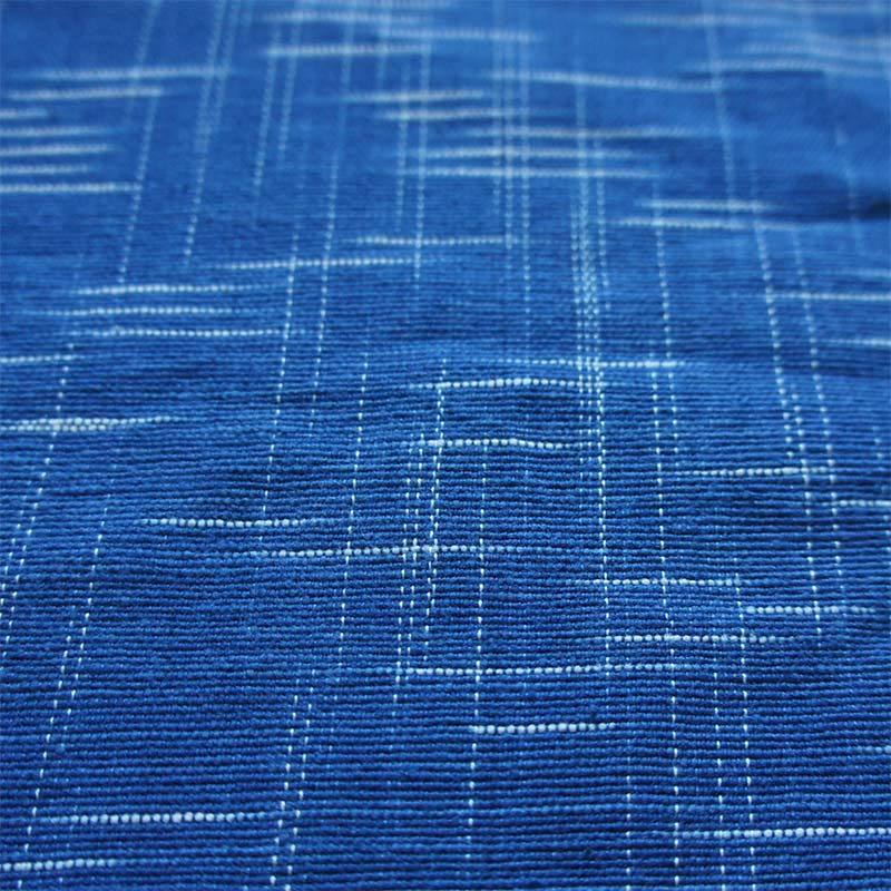 Dark Blue Flecked Handwoven Ikat