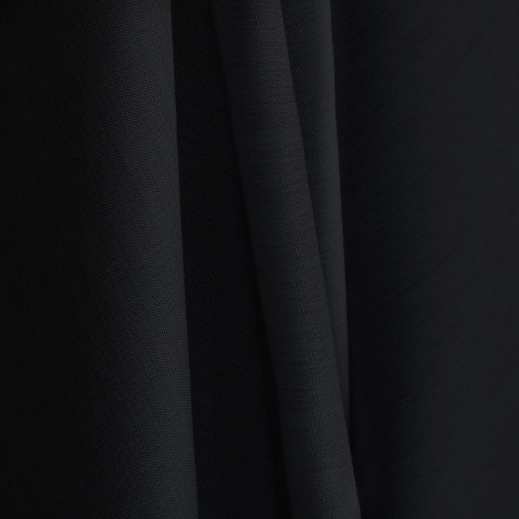 Black Wool Tencel Blend Drape