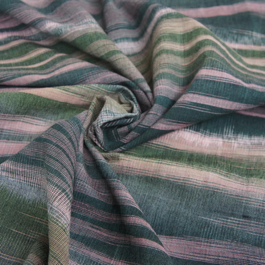 Handwoven Ikat Cotton - Jungle Green