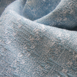 Blue & White Ramie Tweed
