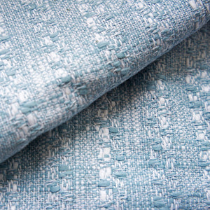 Blue and White Ramie Tweed