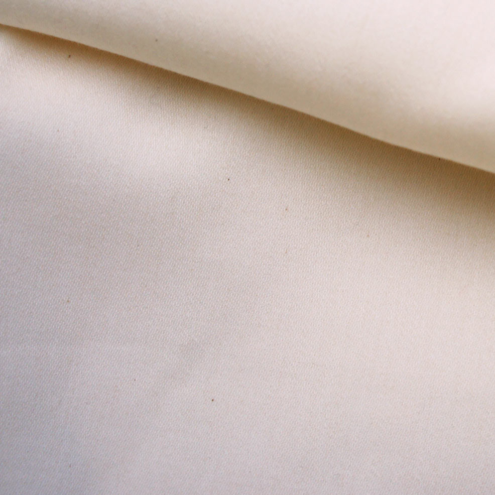 Cream Undyed Organic Sateen
