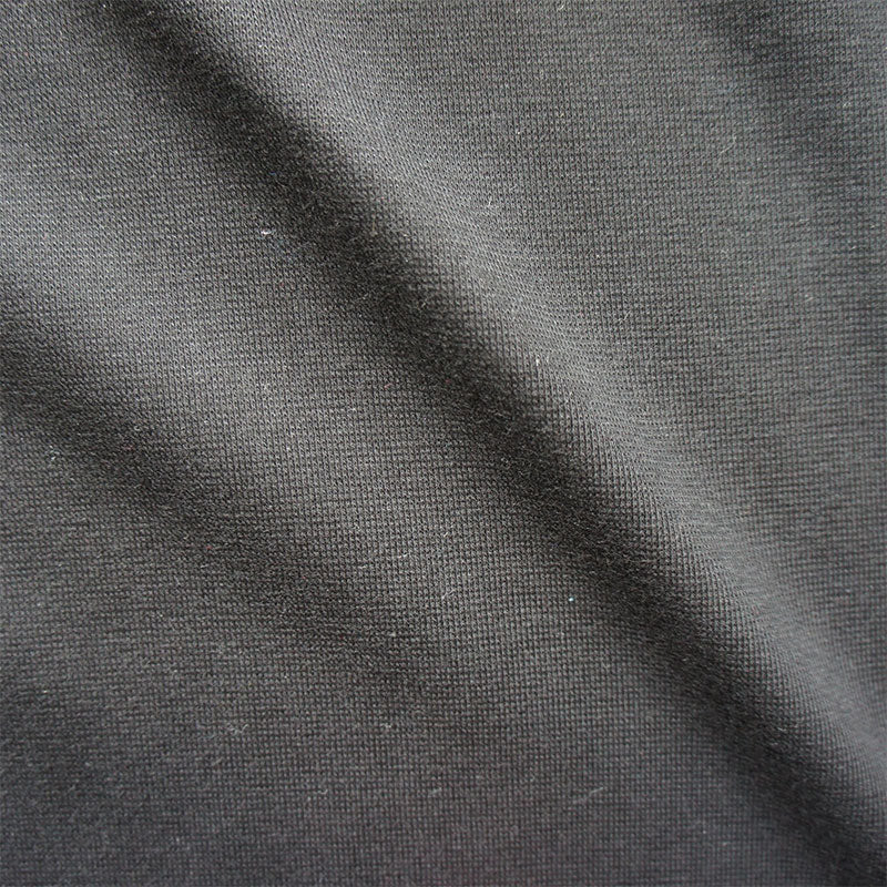 Black Cotton Blend Jersey