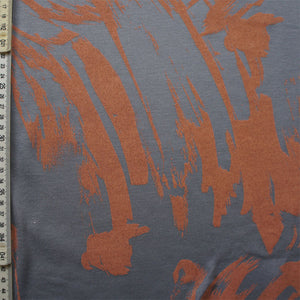 Grey and Peach Paint Modal Silk Jersey