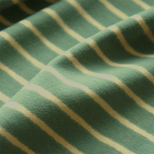 Sage Stripes Organic Cotton Jersey