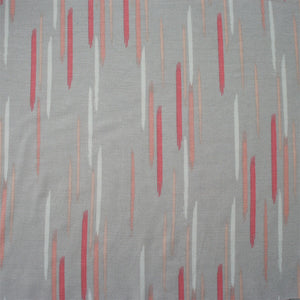 Grey Brush Strokes Bamboo Jersey