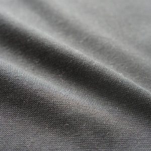 Black Organic Cotton Ponte Jersey