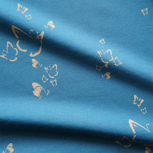 Blue Butterflies Organic Cotton Jersey