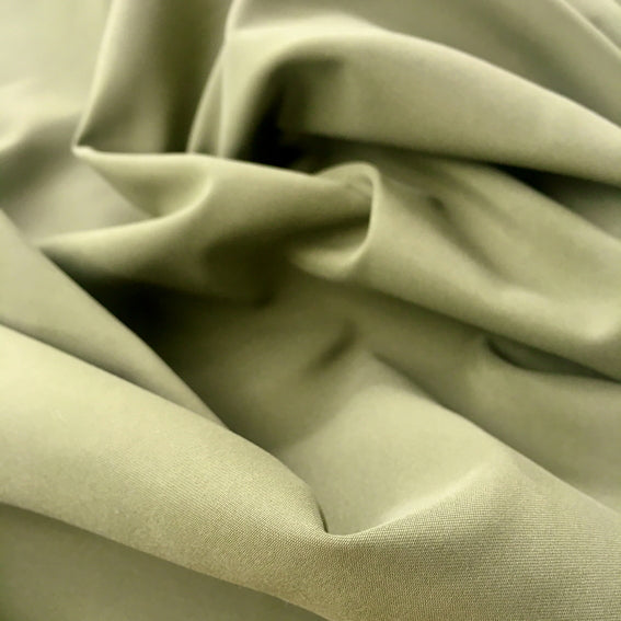 Khaki Recycled Polyester Satin