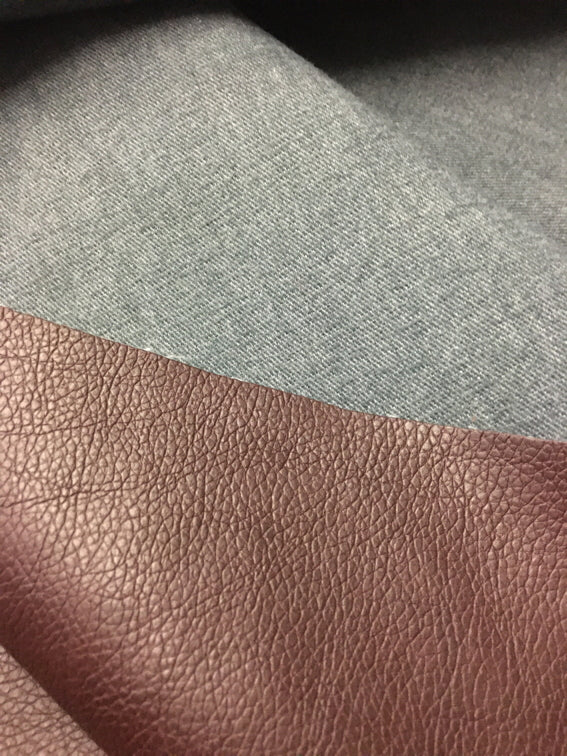 REMNANT: Textured Dark Brown Microfibre PU Leather
