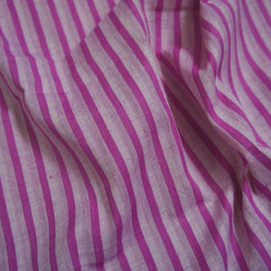 Yarn Dyed Khadi Cotton Shirting - Pink Candy Stripe