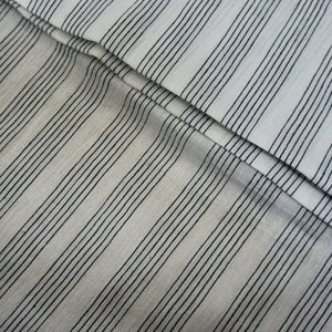 Yarn Dyed Khadi Cotton Shirting - Black Pinstripes