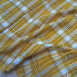 Yarn Dyed Khadi Cotton Shirting - Gold Check
