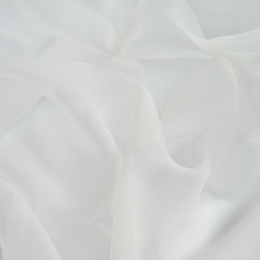 Recycled Polyester Organza - Smooth White
