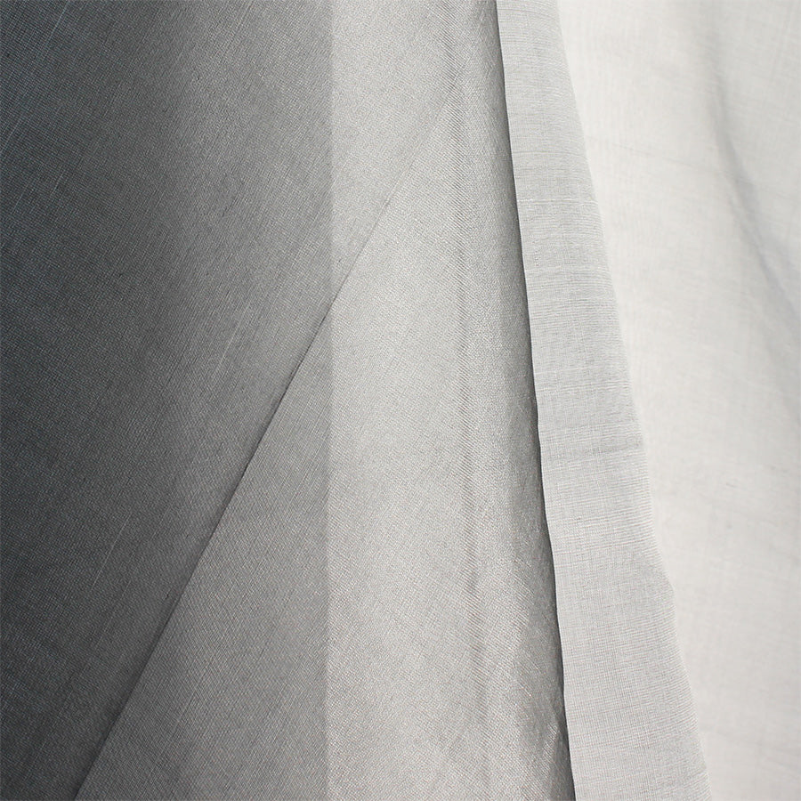 Grey Peace Silk Organza