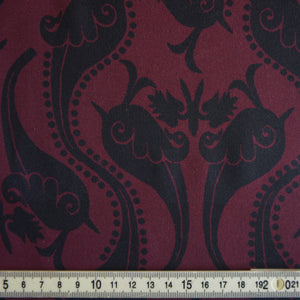 Burgundy Oversized Paisley Tencel