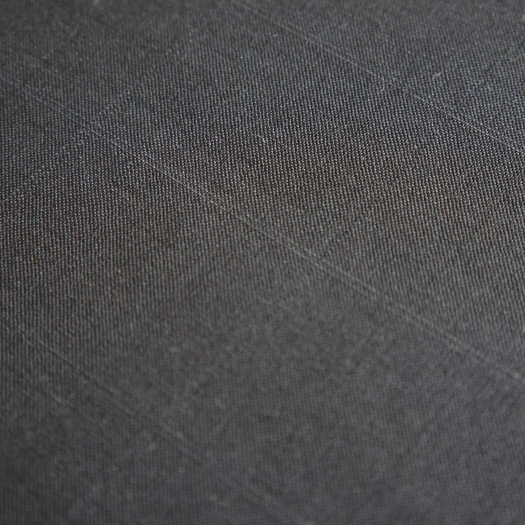 Thick Black Silk-Wool