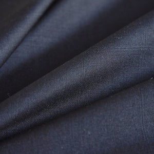 Black Silk-Wool Suiting
