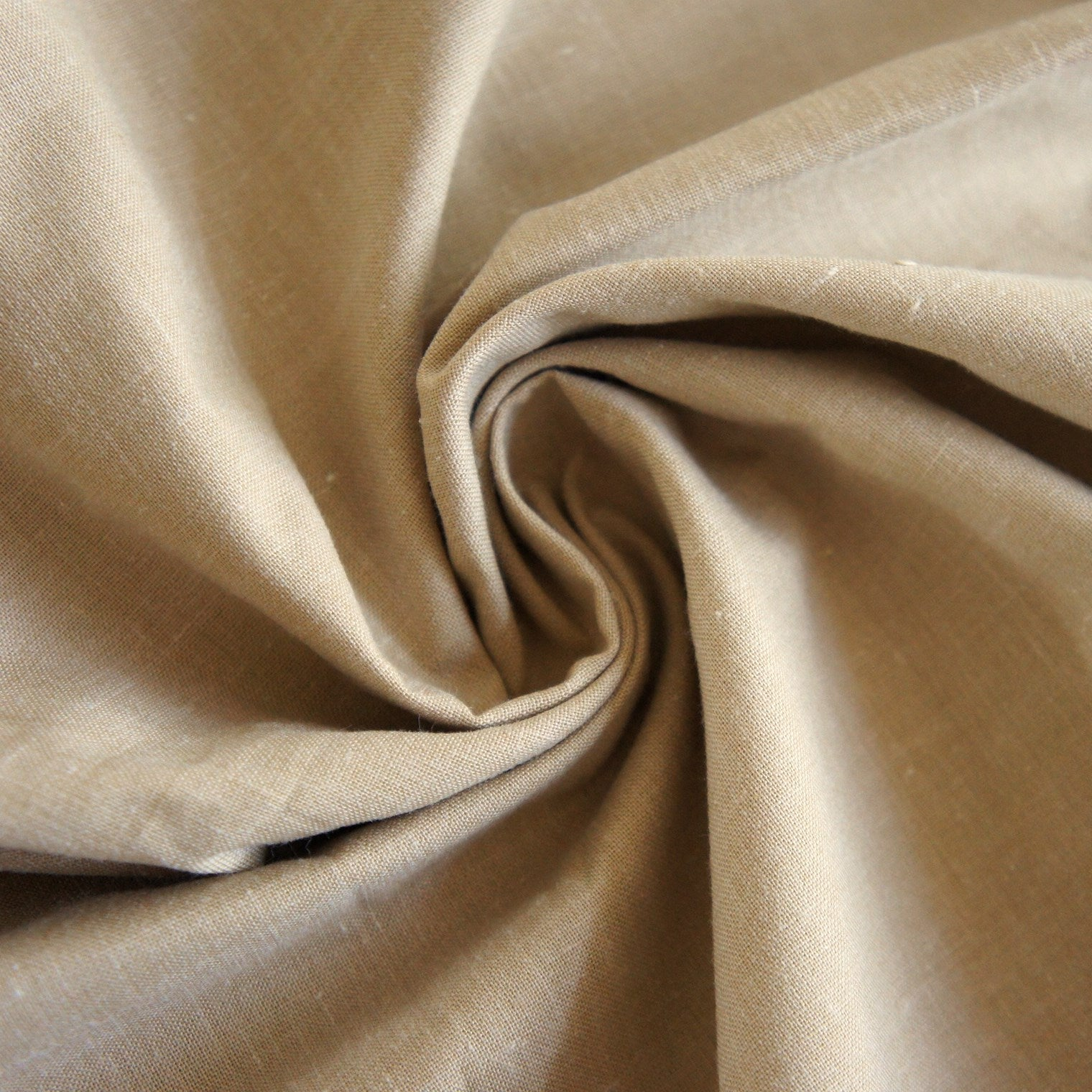 Golden Beige Poly-Cotton