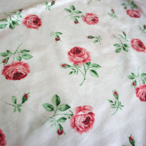 Rose Print Lightweight Plain Weave