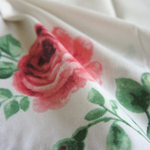 Rose Print Small Plain Woven