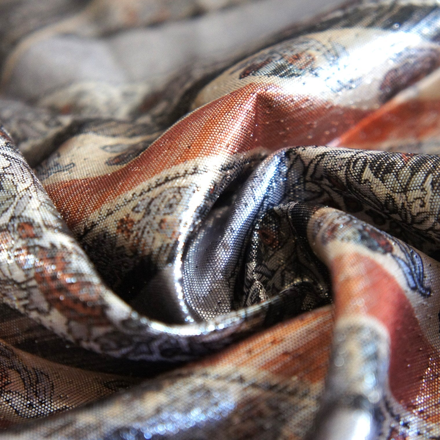 Printed Metallic Fabric