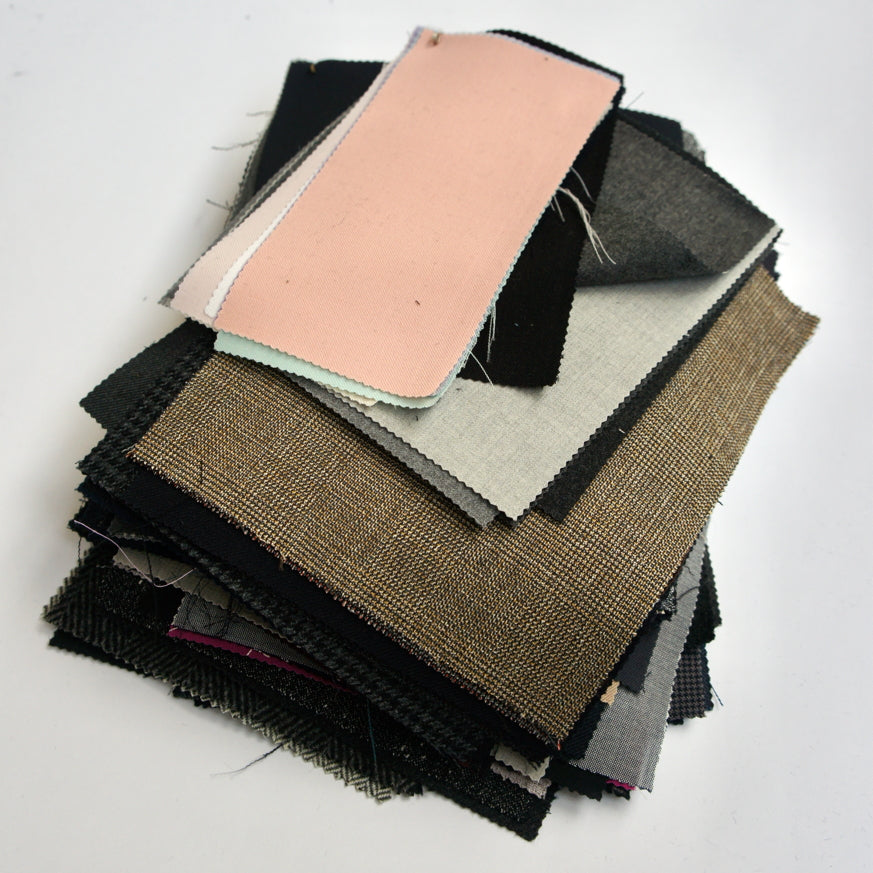 REMNANT: Bundle Of Wool Suiting Fabric Pieces