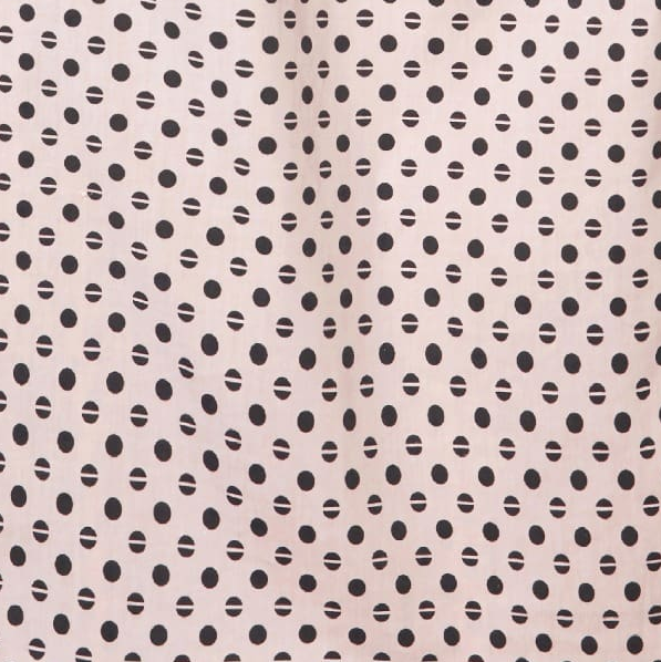 REMNANT: Peach Polka Dot Cotton Elastane 50cm