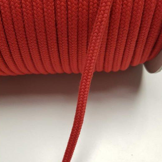 Organic Cotton Braided Cord - Red 7mm