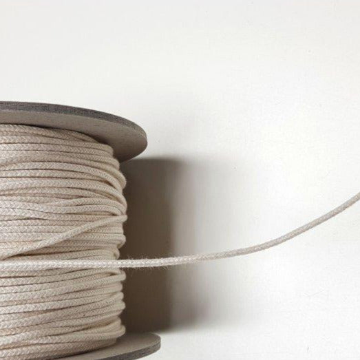 Organic Cotton Piping Cord - Ecru 2mm