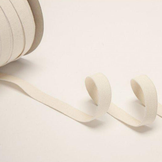 Organic Cotton Elastic Tape - Ecru 18mm Light