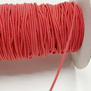 Organic Cotton Elastic Cord - Red 2.2mm