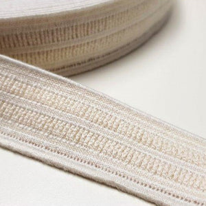 Organic Cotton Elastic Tape - Ecru 25mm