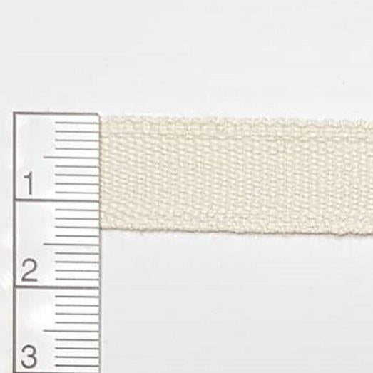 Organic Cotton Woven Tape - Ecru 13mm