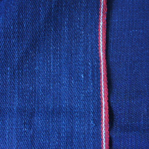 Double-Sided Dark Blue Denim Fairtrade & Handwoven