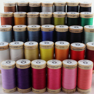 Olive Green Organic Cotton Thread
