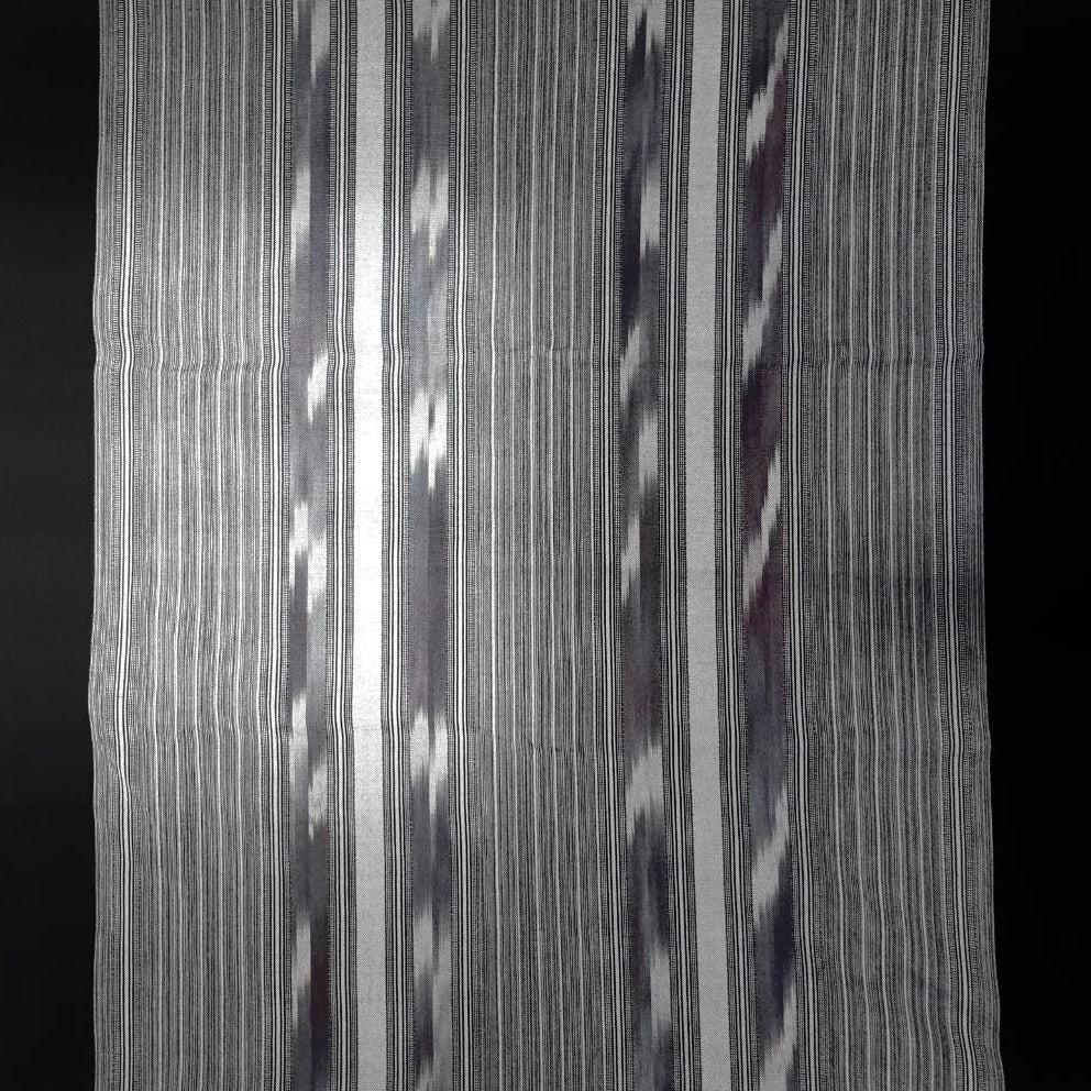 Striped Ebony Black Handwoven Ikat