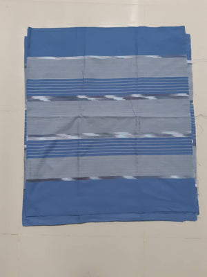 Striped Cornflower Blue Handwoven Ikat