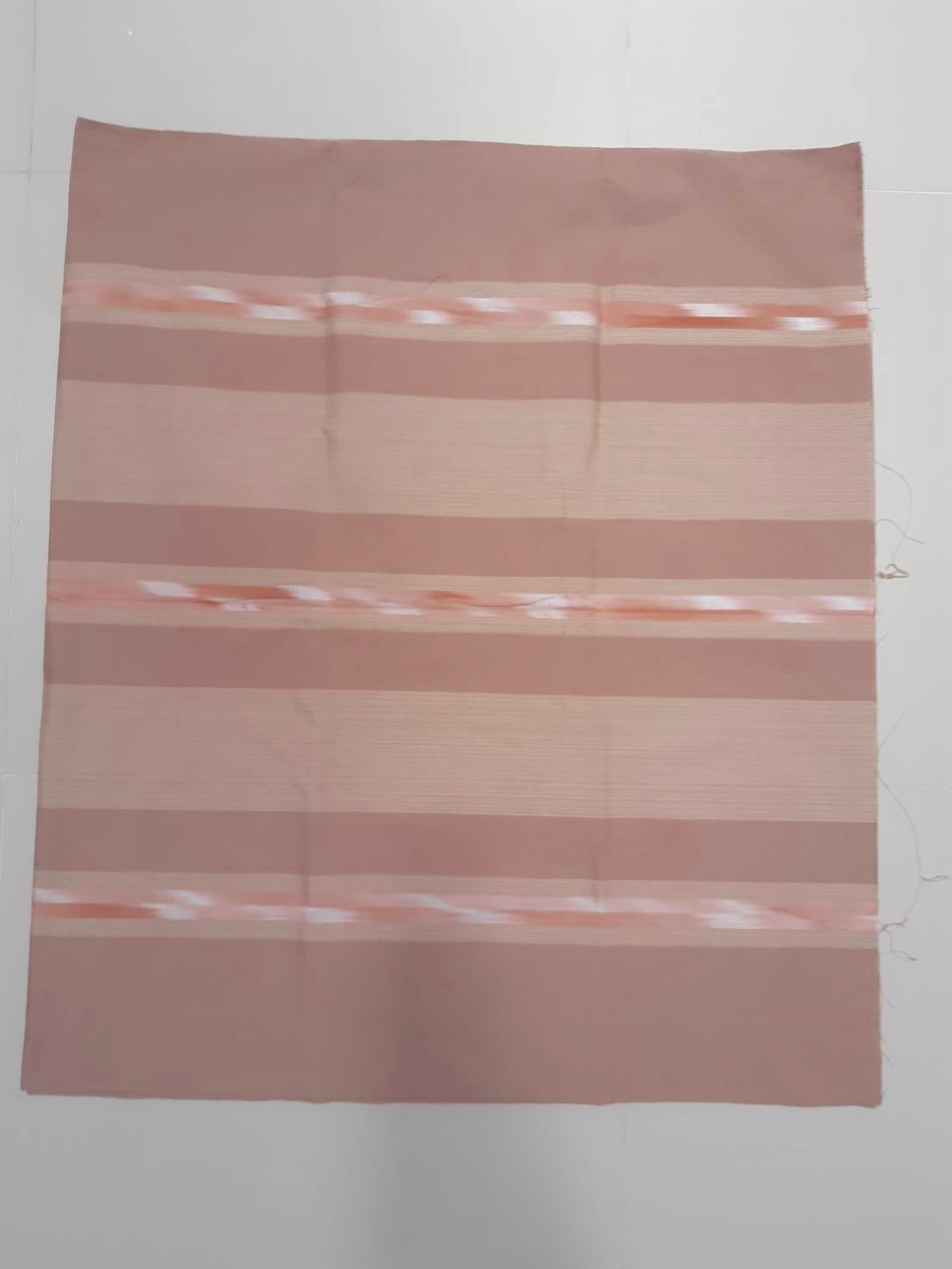 Striped Blush Pink Handwoven Ikat