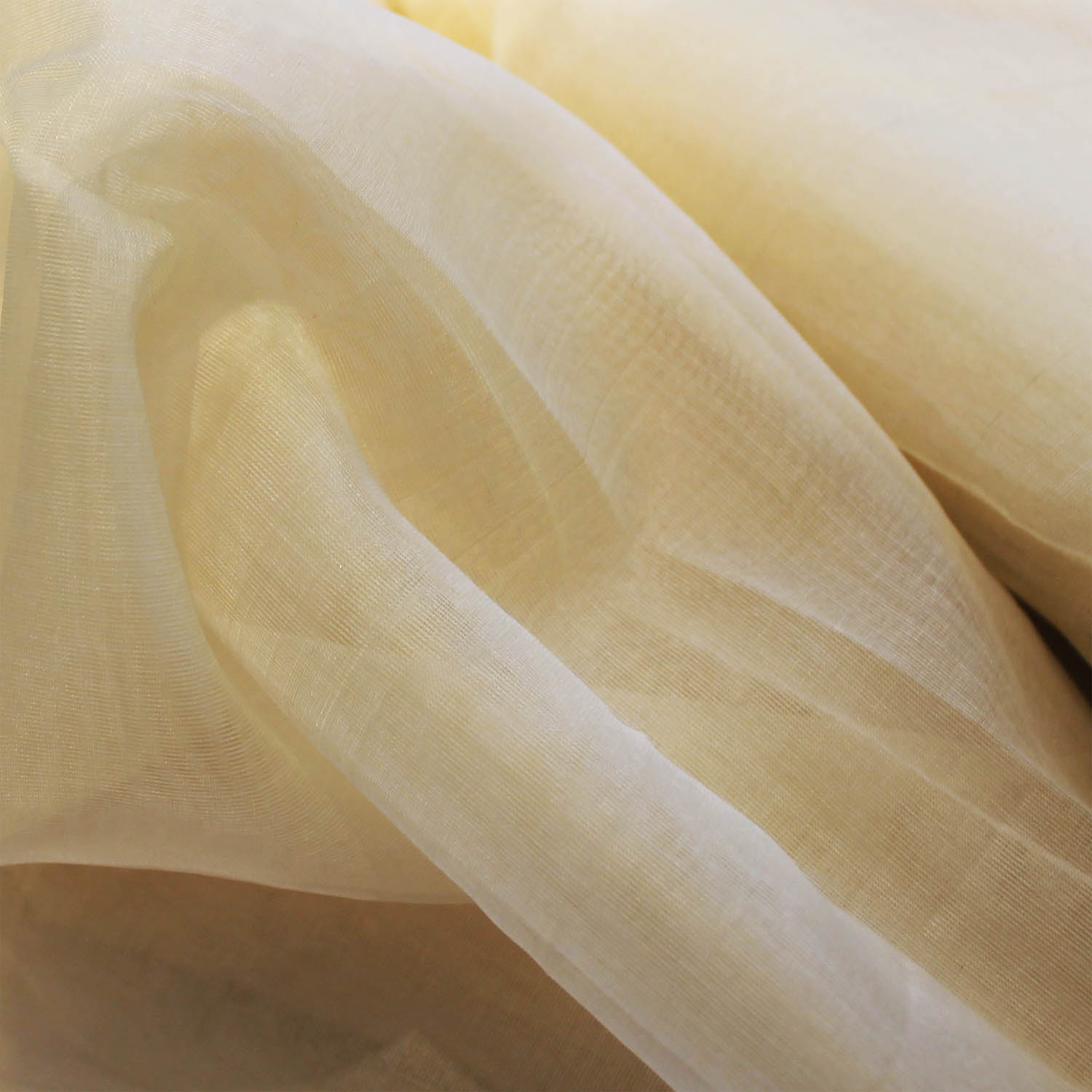 Fair Trade Cream Silk Organza