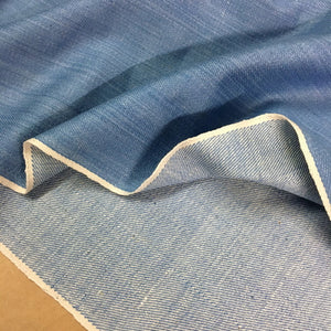 Light blue indigo selvedge denim fabric