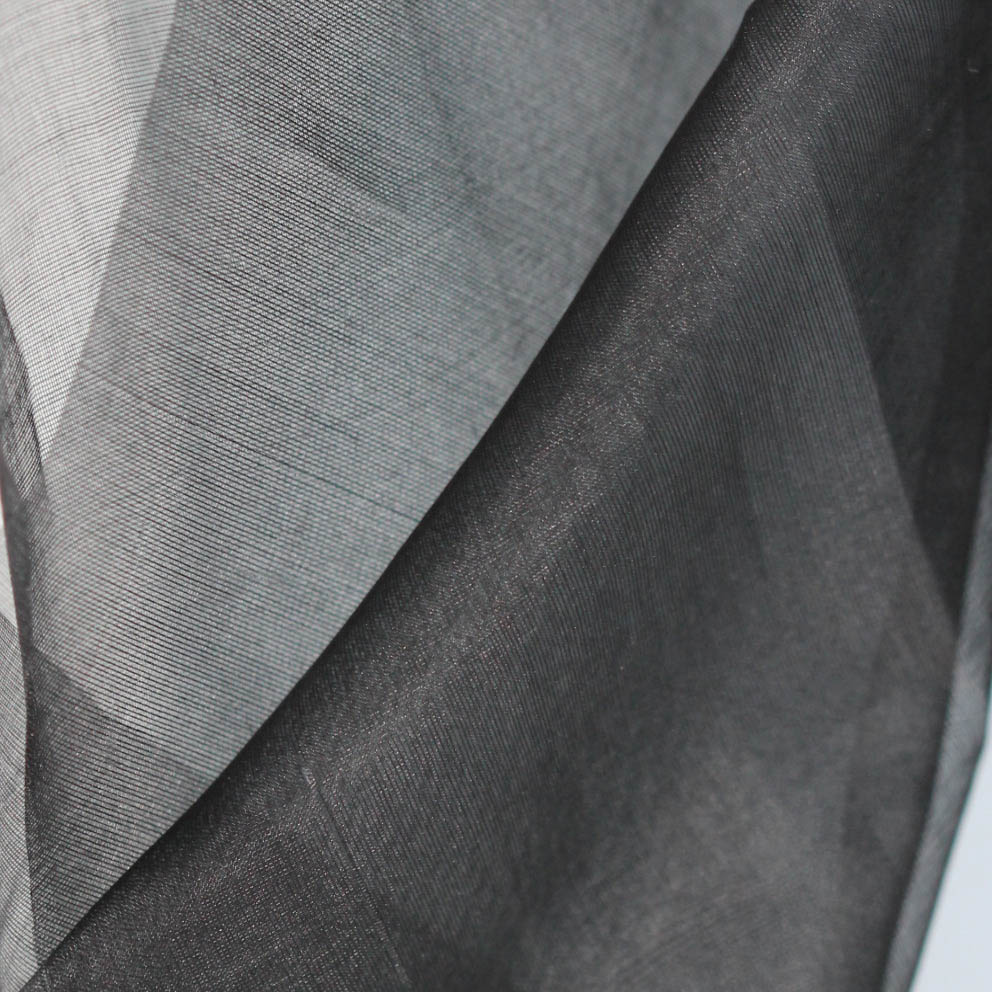 Fair Trade Black Silk Organza