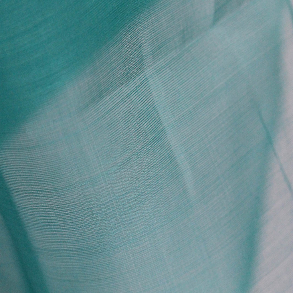 Fair Trade Turquoise Silk Organza