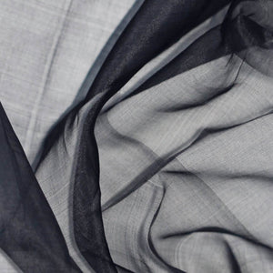 Navy Blue Silk Organza