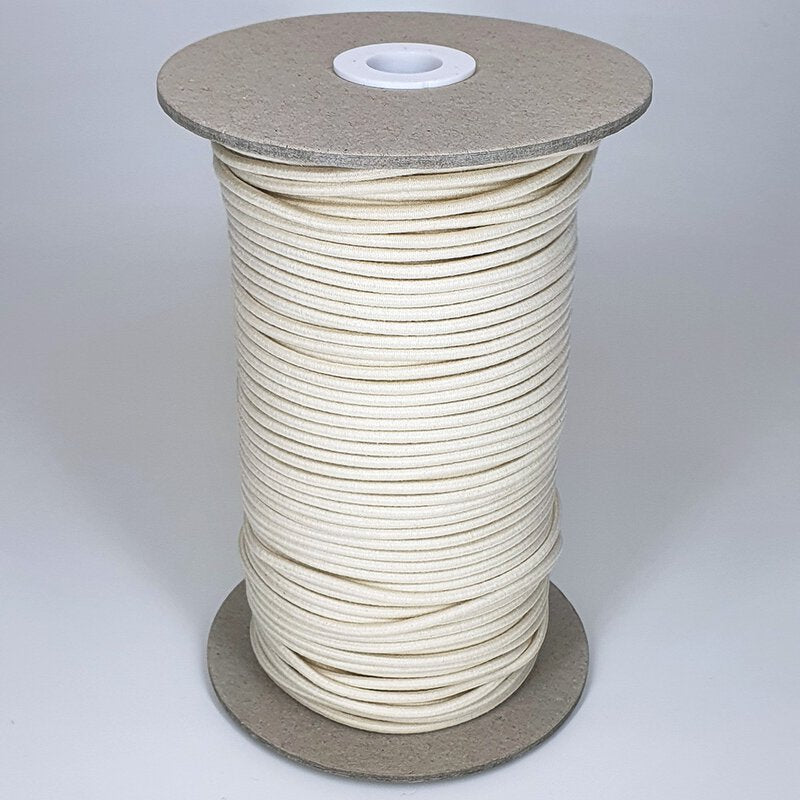 Organic Cotton Elastic Cord - Ecru 3mm