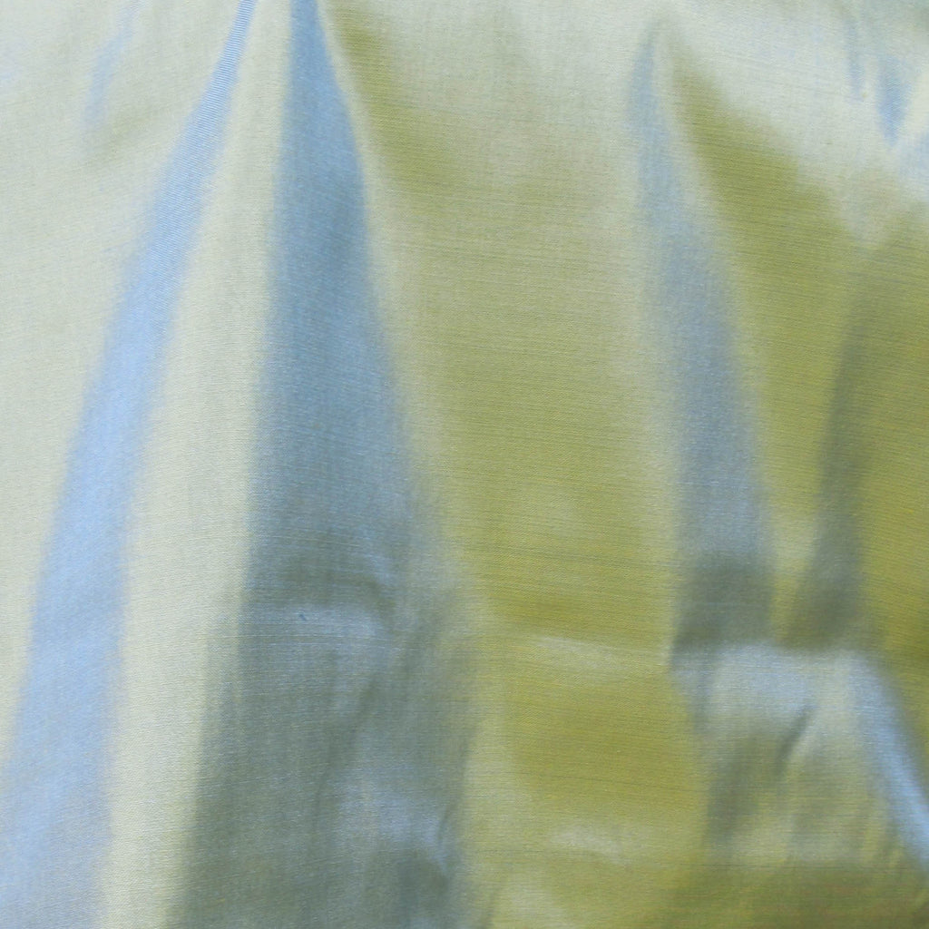 Fair Trade Two-Tone Teal Silk Taffeta
